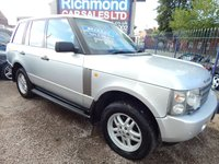 USED 2002 02 LAND ROVER RANGE ROVER 2.9 TD6 VOGUE 5d AUTO 175 BHP LEATHER INTERIOR, SAT NAV, SUNROOF, FULL SERVICE HISTORY