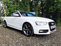 2014 AUDI A4 2.0 TDI S LINE BLACK EDITION 4d 174 BHP £SOLD