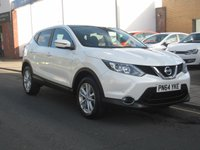 USED 2014 64 NISSAN QASHQAI 1.5 DCI ACENTA PREMIUM 5d 108 BHP Only 15853 miles, one owner, service history, zero road tax, Parking sensors front and back, rear parking camera, Panoramic roof, satellite navigation.