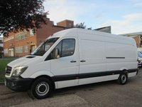 USED 2014 14 MERCEDES-BENZ SPRINTER 2.1 313CDI LWB HIGH ROOF 129 BHP. FACELIFT. 1 OWNER. FSH 8 SERVICES. LOW RATE FINANCE. PX WELCOME. WARRANTY