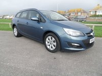 USED 2014 64 VAUXHALL ASTRA 1.6 DESIGN  AUTO 115 BHP ESTATE BLUE, 1 OWNER, FSH