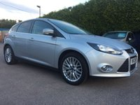 2012 FORD FOCUS 1.6 Zetec 5dr LOW MILEAGE EXAMPLE WITH APPEARENCE PACK £6750.00