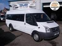 USED 2011 11 FORD TRANSIT 17 SEAT / SEATER MINIBUS 115BHP 6 SPEED 1 OWNER FULL HISTORY