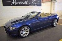 2005 BMW 6 SERIES 3.0 630I 2d AUTO 255 BHP CONVERTIBLE £8000.00