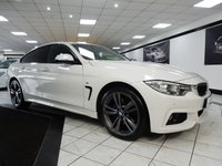 USED 2014 64 BMW 4 SERIES GRAN COUPE 420D XDRIVE M SPORT GRAN COUPE AUTO PRO NAV HTD LTHR H/K 19'S DAB