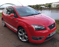 USED 2007 57 FORD FOCUS 2.5 ST-2 3d 225 BHP **STUNNING RED WITH WHITE STRIPES**
