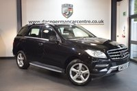 USED 2014 63 MERCEDES-BENZ M CLASS 3.0 ML350 BLUETEC SE 5DR AUTO 258 BHP + FULL BLACK LEATHER INTERIOR + 1 OWNER FROM NEW + SAT NAV PREP + BLUETOOTH + CRUISE CONTROL + SPORT SEATS  + 19 INCH ALLOY WHEELS +