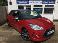 USED 2015 64 CITROEN DS3 1.6 E-HDI DSTYLE PLUS 3d 90 BHP 14K FSH  ONE CAREFUL OWNER  £0/YR TAX  EXCELLENT CONDITION