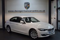 USED 2013 13 BMW 3 SERIES 2.0 320D MODERN 4DR AUTO 184 BHP + HALF BLACK LEATHER INTERIOR  + EXCELLENT SERVICE HISTORY + 1 OWNER FROM NEW + BUSINESS SATELLITE NAVIGTAION + BLUETOOTH + DAB RADIO + RAIN SENSORS + CRUISE CONTROL + PARKING SENSORS + 17 INCH ALLOY WHEELS +
