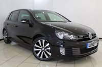 USED 2012 62 VOLKSWAGEN GOLF 2.0 GTD TDI 5DR 170 BHP VW SERVICE HISTORY + HEATED LEATHER + CLIMATE CONTROL + MULTI FUNCTION WHEEL + RADIO/CD + AUXILIARY PORT + ALLOY WHEELS