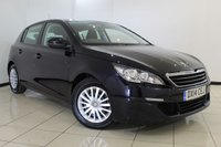 USED 2014 14 PEUGEOT 308 1.6 HDI ACCESS 5DR 92 BHP FULL SERVICE HISTORY + AIR CONDITIONING + BLUETOOTH + CRUISE CONTROL + MULTI FUNCTION WHEEL + AUXILIARY PORT