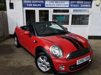 USED 2012 62 MINI ROADSTER 1.6 COOPER 2d 120 BHP 26K FSH  JUST ONE LADY OWNER  EXCELLENT CONDITION THROUGHOUT