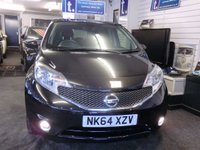 USED 2014 64 NISSAN NOTE 1.2 ACENTA PREMIUM 5d 80 BHP NEW MODEL in gleaming black with great spec and features-inlc Sat Nav,blue tooth,cruise,rear park sensors,air con-ONLY £20 Year Road Tax -such good value and SAVE £250 WAS £7000 NOW ONLY £6750