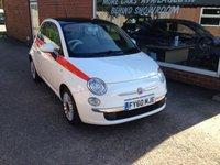 2010 FIAT 500 1.2 LOUNGE MULTIJET 95 3d 95 BHP DIESEL STOP/START IN WHITE £4890.00