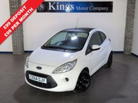 USED 2014 64 FORD KA 1.2 EDGE 3dr  One Owner, FSH, £30 Tax,Low Ins, Gloss Black Roof & Wheels
