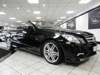 USED 2010 10 MERCEDES-BENZ E CLASS E200 CGI SPORT BLUEEFFICIENCY AUTO 184 BHP AIR SCARF HTD BLK LTHR FSH B/T