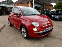 USED 2015 15 FIAT 500 1.2 LOUNGE 3d 69 BHP ONE OWNER,BLUE AND ME,AIR CON,GLASS ROOF,PARK AID