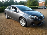 USED 2014 14 TOYOTA AVENSIS 1.8 VALVEMATIC ACTIVE 4d AUTO 147 BHP 1 Owner, Rare Petrol Auto ! Bluetooth