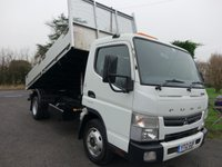 USED 2012 12 MITSUBISHI FUSO CANTER 7c15 Tipper 7.5 Tonne 3.0Td 150Bhp Low Mileage Tipper Fitted With TGS Alloy Body