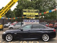 USED 2012 62 BMW 5 SERIES 2.0 520D M SPORT 4d 181 BHP 2 OWNERS, BMW SERVICE HISTORY, METALLIC BLACK PAINT WORK, FULL BLACK LEATHER INTERIOR, 18 INCH DOUBLE M  SPOKE ALLOY WHEELS, BLUETOOTH, CD, PARKING SENSORS,
