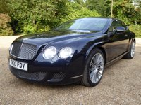 USED 2010 10 BENTLEY CONTINENTAL 6.0 GT SPEED 2d AUTO 601 BHP