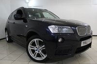 USED 2012 62 BMW X3 3.0 XDRIVE30D M SPORT 5DR AUTOMATIC 255 BHP SERVICE HISTORY + HEATED LEATHER SEATS + SAT NAVIGATION PROFESSIONAL + PARKING SENSOR + BLUETOOTH + CRUISE CONTROL + MULTI FUNCTION WHEEL + 18 INCH ALLOY WHEELS