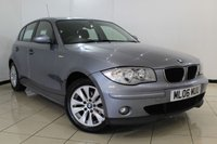 USED 2006 06 BMW 1 SERIES 2.0 118I SE 5DR AUTOMATIC 128 BHP BMW SERVICE HISTORY + CLIMATE CONTROL + PARKING SENSOR + MULTI FUNCTION WHEEL + RADIO/CD + 16 INCH ALLOY WHEELS