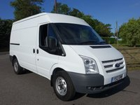 USED 2012 12 FORD TRANSIT 330 Mwb Medium Hightop 2.2Tdci 100Ps Popular Model With F/S/History And Air Con