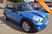 USED 2011 11 MINI HATCH COOPER 1.6 COOPER D PIMLICO 3d 110 BHP FULL MAIN DEALER HISTORY 5 STAMPS , SPECIAL PIMLICO LIMITED EDITION