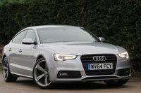 USED 2014 64 AUDI A5 2.0 SPORTBACK TDI S LINE BLACK EDITION S/S 5d 175 BHP AA DEALER PROMISE, DRIVE AWAY TODAY