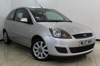 USED 2007 07 FORD FIESTA 1.4 SILVER LIMITED 3DR 78 BHP SERVICE HISTORY + AIR CONDITIONING + RADIO/CD + ELECTRIC WINDOWS + ELECTRIC MIRRORS + AUXILIARY PORT