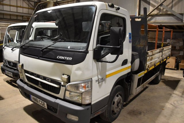 2011 61 MITSUBISHI FUSO CANTER 3.0 75 DAY 7C15 AIR CON 2d 144 BHP 7500KG RWD TWIN WHEEL DIESEL MANUAL TIPPER ONE OWNER S/H SPARE KEY