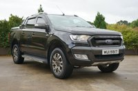 USED 2016 FORD RANGER 3.2 WILDTRAK 4X4 DCB TDCI 1d 197 BHP LEATHER, SAT NAV, REVERSE CAMERA, LINER, TOWING, COLOUR CODED FLIP UP LID