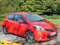 USED 2014 14 TOYOTA YARIS 1.3 VVT-I ICON PLUS 5d 99 BHP * 128 POINT AA INSPECTED *