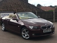 2008 BMW 3 SERIES 3.0 325D SE 2d 195 BHP Convertible £7995.00