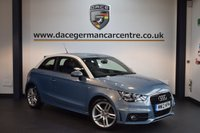 USED 2012 12 AUDI A1 1.6 TDI S LINE 3DR 105 BHP + FULL AUDI SERVICE HISTORY + HALF LEATHER INTERIOR + BLUETOOTH + SPORT SEATS + AUXILIARY PORT + HEATED MIRRORS + 16 INCH ALLOY WHEELS +