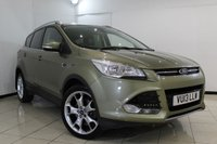 USED 2013 13 FORD KUGA 2.0 TITANIUM TDCI 2WD 5DR 138 BHP FULL SERVICE HISTORY + HALF LEATHER SEATS + CLIMATE CONTROL + CRUISE CONTROL + MULTI FUNCTION WHEEL + RADIO/CD + 17 INCH ALLOY WHEELS