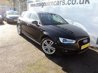 USED 2016 65 AUDI A3 2.0 TDI S LINE NAV 5d 148 BHP One Owner 9000 Miles Navigation+Bluetooth