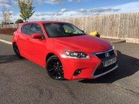 2014 LEXUS CT 1.8 200H LUXURY 5d AUTO 134 BHP £13995.00