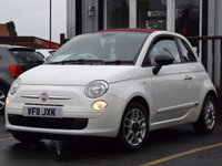 USED 2011 11 FIAT 500 1.2 C POP 3d 69 BHP SUPERB SMALL CONVERTIBLE CITY CAR, £30 FOR YEARS TAX, FULL FIAT SERVICE HISTORY. POP VERSION WITH ALLOY WHEELS