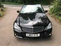2012 MERCEDES-BENZ C CLASS 2.1 C200 CDI BlueEFFICIENCY SE 4dr £9000.00