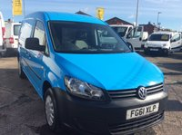 2011 VOLKSWAGEN CADDY MAXI 1.6 C20 TDI 101 BHP  FSH NEW MOT AIR CON RACKING £6500.00