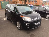 USED 2013 63 CITROEN C3 PICASSO 1.6 PICASSO VTR PLUS HDI 5d 91 BHP WITH ALLOY WHEELS,  AIR CONDITIONING, AND AUXILLIARY/USB INPUT!!..£20 ROAD TAX!! ..EXCELLENT FUEL ECONOMY!!..LOW CO2 EMISSIONS(107G/KM)..£20 ROAD TAX..FULL HISTORY...ONLY 3429 MILES FROM NEW!!