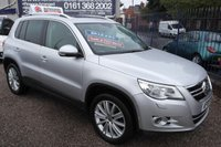 USED 2008 08 VOLKSWAGEN TIGUAN 2.0 SE TDI 5d 138 BHP BLACK LEATHER, SAT NAV, ALLOYS,F.S.H, PANORAMIC SUNROOF