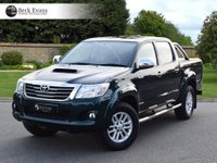 USED 2014 14 TOYOTA HI-LUX 3.0 INVINCIBLE 4X4 D-4D DCB 1d AUTO 169 BHP FULL LEATHER REAR ROLLER SHUTTER
