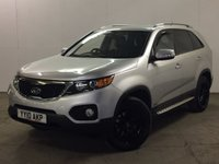 USED 2010 10 KIA SORENTO 2.2 CRDI KX-2 5d AUTO 195 BHP 7 SEATER LEATHER SIDE STEPS FSH 4WD. 7 SEATER. REAR SEAT ENTERTAINMENT. STUNNING SILVER MET WITH FULL BLACK LEATHER TRIM. HEATED SEATS. SIDE STEPS. CRUISE CONTROL. 18 INCH ALLOYS. COLOUR CODED TRIMS. PRIVACY GLASS. PARKING SENSORS. CLIMATE CONTROL. TRIP COMPUTER. R/CD PLAYER. MFSW. MOT 09/18. FULL SERVICE HISTORY. FCA FINANCE APPROVED DEALER. TEL 01937 849492