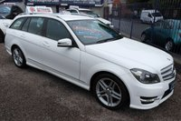 USED 2013 63 MERCEDES-BENZ C CLASS 2.1 C220 CDI BLUEEFFICIENCY AMG SPORT 5d AUTO 168 BHP BLACK LEATHER, PARKING SENSORS, SAT NAV PREPERATION, ALLOYS,F.S.H