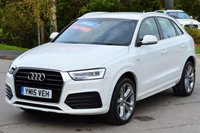 USED 2015 15 AUDI Q3 2.0 TDI S LINE 5d 148 BHP CANDY WHITE * FINANCE AVAILABLE