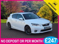 USED 2014 63 LEXUS CT 1.8 200H F SPORT 5dr AUTO [ NAVIGATION ] PRICE CHECKED DAILY   WHY PAY MORE ??