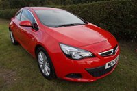 """USED 2014 14 VAUXHALL ASTRA 1.4 GTC SRI S/S 3d 118 BHP FVSH-LEATHER-17K MILES Presented with 2 keys, Full Vauxhall Histroy & Only 2 Owners, Half Leather Sport Seats, DAB Radio CD Player, 18"""" Alloys, Privacy Glass, USB, Voice Active Bluetooth, Crusie Control & Speed Limiter, Auto Light & Wipers, Air Conditioning, Front Fog Lights"""